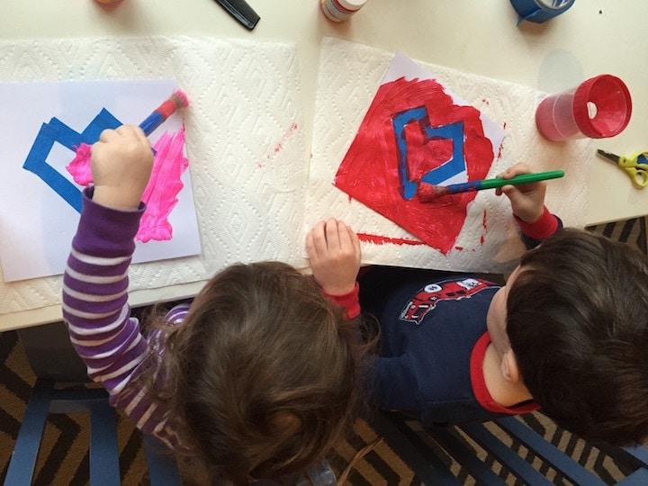 painted heart painting kidlist