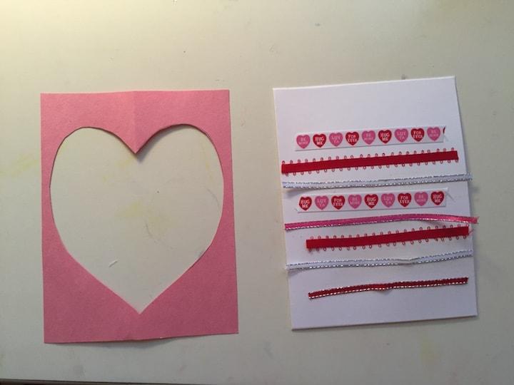 ribbon heart card components kidlist