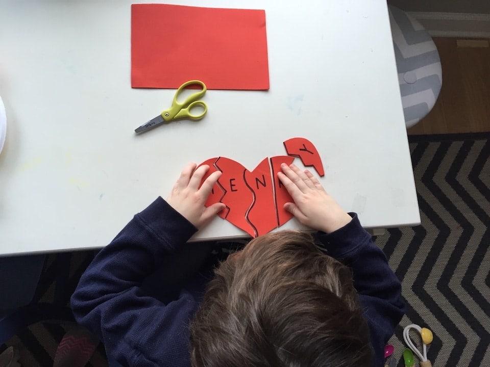 valentine heart puzzle kidlist