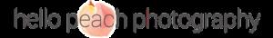hello peach photography logo
