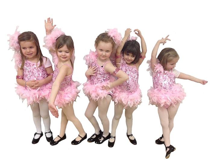 jos footwork studio tap dancers in costume