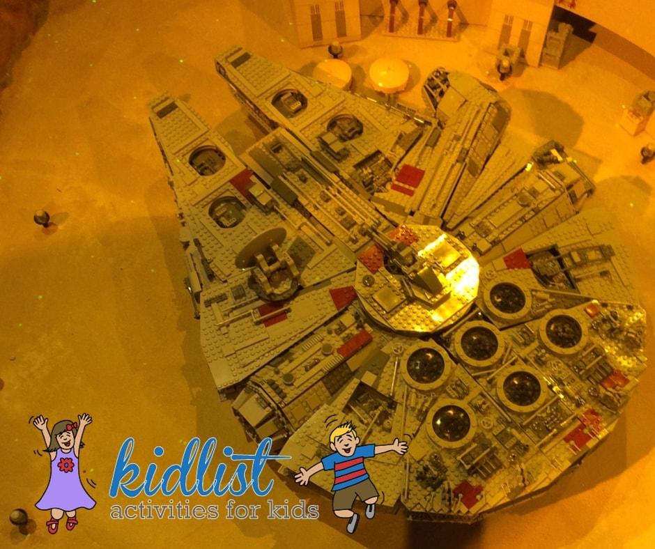 Millennium Falcon made from LEGOs